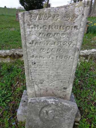 CHURCH, NANCY MARIA - Hickman County, Tennessee   NANCY MARIA CHURCH - Tennessee Gravestone Photos