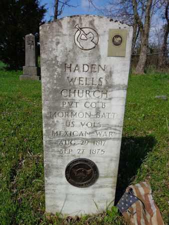CHURCH (VETERAN MAW), HADEN WELLS - Hickman County, Tennessee | HADEN WELLS CHURCH (VETERAN MAW) - Tennessee Gravestone Photos