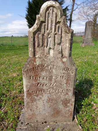 EMMONS, NANCY T. - Hickman County, Tennessee | NANCY T. EMMONS - Tennessee Gravestone Photos