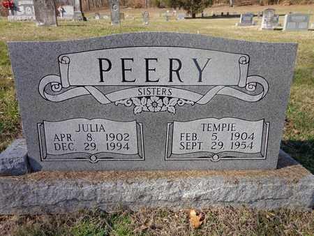 PEERY, JULIA - Hickman County, Tennessee | JULIA PEERY - Tennessee Gravestone Photos