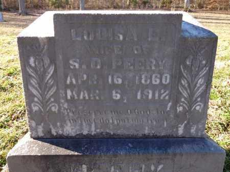 PEERY, LOUISA E - Hickman County, Tennessee | LOUISA E PEERY - Tennessee Gravestone Photos
