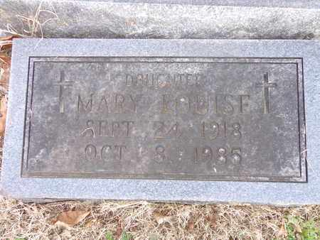 PEERY, MARY LOUISE - Hickman County, Tennessee   MARY LOUISE PEERY - Tennessee Gravestone Photos