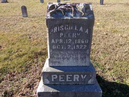 PEERY, PRISCILLA A - Hickman County, Tennessee | PRISCILLA A PEERY - Tennessee Gravestone Photos