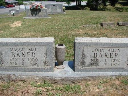 BAKER, JOHN ALLEN - Humphreys County, Tennessee | JOHN ALLEN BAKER - Tennessee Gravestone Photos
