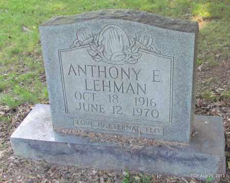 LEHMAN, ANTHONY E - Humphreys County, Tennessee | ANTHONY E LEHMAN - Tennessee Gravestone Photos