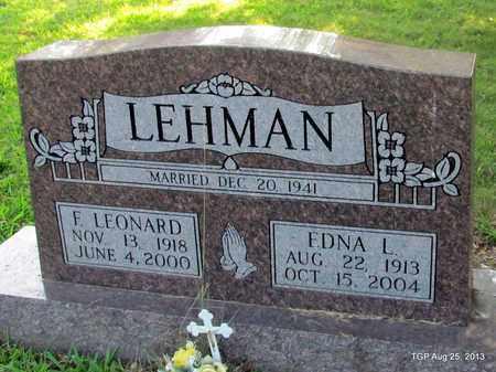 LEHMAN, EDNA L - Humphreys County, Tennessee | EDNA L LEHMAN - Tennessee Gravestone Photos