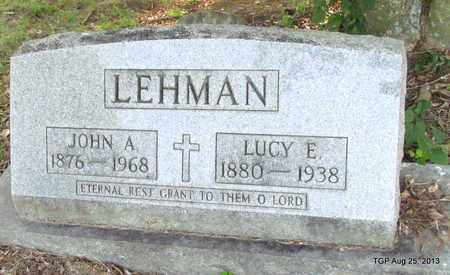 LEHMAN, LUCY E - Humphreys County, Tennessee | LUCY E LEHMAN - Tennessee Gravestone Photos
