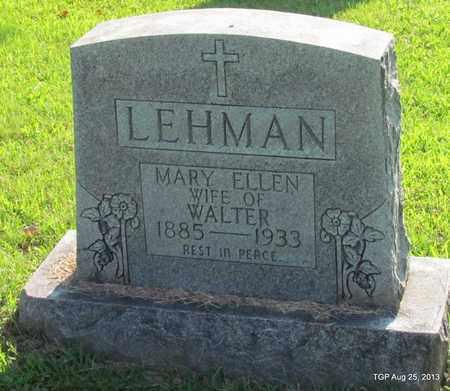 LEHMAN, MARY ELLEN - Humphreys County, Tennessee   MARY ELLEN LEHMAN - Tennessee Gravestone Photos