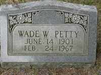 PETTY, WADE W. - Jackson County, Tennessee | WADE W. PETTY - Tennessee Gravestone Photos