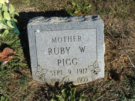 PIGG, RUBY ETHEL - Jackson County, Tennessee | RUBY ETHEL PIGG - Tennessee Gravestone Photos