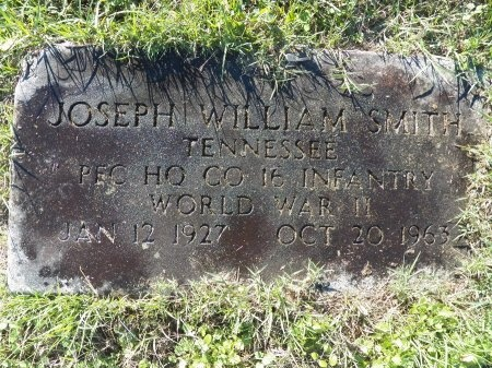 SMITH (VETERAN WWII), JOSEPH WILLIAM - Jackson County, Tennessee | JOSEPH WILLIAM SMITH (VETERAN WWII) - Tennessee Gravestone Photos