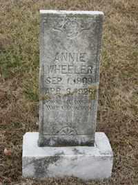 WHEELER, ANNIE - Jackson County, Tennessee | ANNIE WHEELER - Tennessee Gravestone Photos