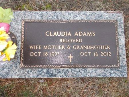 ADAMS, CLAUDIA - Jefferson County, Tennessee | CLAUDIA ADAMS - Tennessee Gravestone Photos