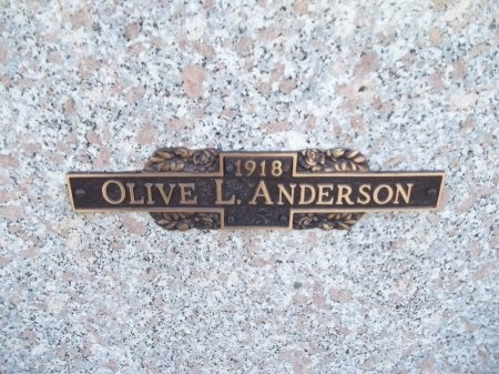 JOHNSON ANDERSON, OLIVE L. - Jefferson County, Tennessee | OLIVE L. JOHNSON ANDERSON - Tennessee Gravestone Photos