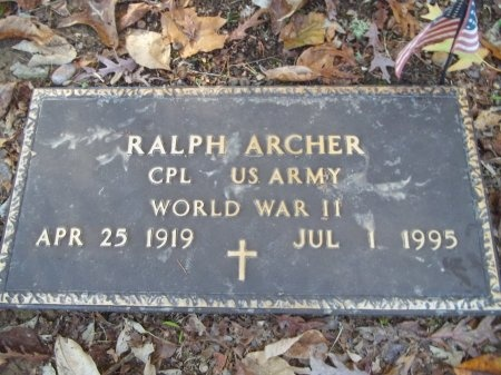 ARCHER (VETERAN WWII), RALPH - Jefferson County, Tennessee | RALPH ARCHER (VETERAN WWII) - Tennessee Gravestone Photos