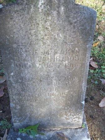BAKER, JESSIE M. - Jefferson County, Tennessee | JESSIE M. BAKER - Tennessee Gravestone Photos