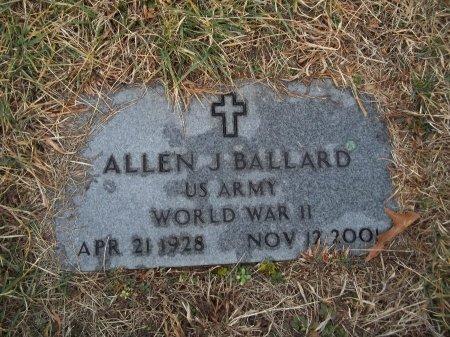BALLARD (VETERAN WWII), ALLEN J - Jefferson County, Tennessee | ALLEN J BALLARD (VETERAN WWII) - Tennessee Gravestone Photos