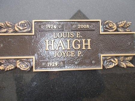 HAIGH, LOUIS E. - Jefferson County, Tennessee | LOUIS E. HAIGH - Tennessee Gravestone Photos