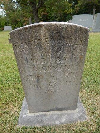 HICKMAN, BEATRICE MANILLA - Jefferson County, Tennessee | BEATRICE MANILLA HICKMAN - Tennessee Gravestone Photos