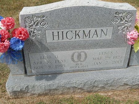 HICKMAN, BURL O - Jefferson County, Tennessee | BURL O HICKMAN - Tennessee Gravestone Photos