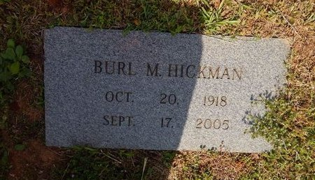 HICKMAN, BURL M - Jefferson County, Tennessee | BURL M HICKMAN - Tennessee Gravestone Photos