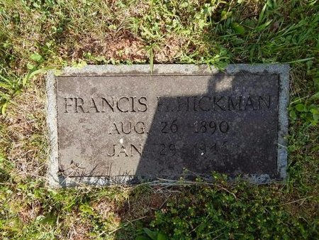 HICKMAN, FRANCIS H - Jefferson County, Tennessee | FRANCIS H HICKMAN - Tennessee Gravestone Photos
