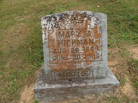 HICKMAN, MARY A - Jefferson County, Tennessee | MARY A HICKMAN - Tennessee Gravestone Photos