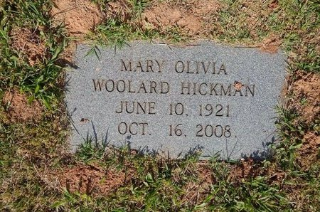 HICKMAN, MARY OLIVIA - Jefferson County, Tennessee | MARY OLIVIA HICKMAN - Tennessee Gravestone Photos