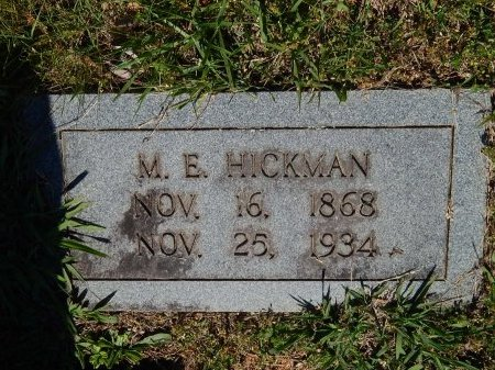 HICKMAN, M E - Jefferson County, Tennessee | M E HICKMAN - Tennessee Gravestone Photos
