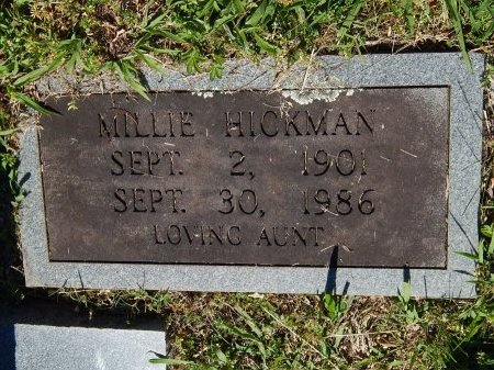 HICKMAN, MILLIE - Jefferson County, Tennessee | MILLIE HICKMAN - Tennessee Gravestone Photos