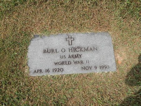 HICKMAN (VETERAN WWII), BURL O - Jefferson County, Tennessee | BURL O HICKMAN (VETERAN WWII) - Tennessee Gravestone Photos