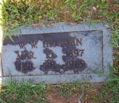 HICKMAN, W W - Jefferson County, Tennessee | W W HICKMAN - Tennessee Gravestone Photos