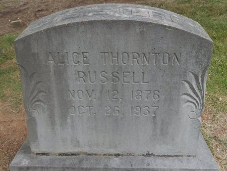 RUSSELL, ALICE - Jefferson County, Tennessee | ALICE RUSSELL - Tennessee Gravestone Photos