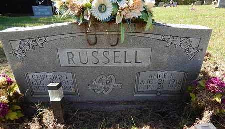 RUSSELL, ALICE R - Jefferson County, Tennessee | ALICE R RUSSELL - Tennessee Gravestone Photos