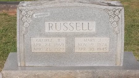 RUSSELL, GEORGE B - Jefferson County, Tennessee | GEORGE B RUSSELL - Tennessee Gravestone Photos