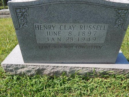 RUSSELL, HENRY CLAY - Jefferson County, Tennessee   HENRY CLAY RUSSELL - Tennessee Gravestone Photos