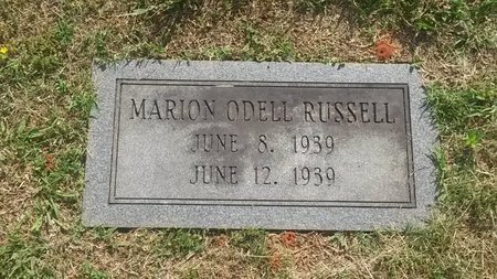 RUSSELL, MARION O'DELL - Jefferson County, Tennessee | MARION O'DELL RUSSELL - Tennessee Gravestone Photos