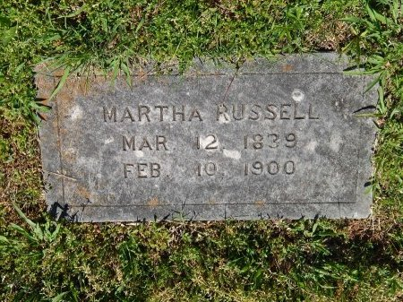 RUSSELL, MARTHA - Jefferson County, Tennessee | MARTHA RUSSELL - Tennessee Gravestone Photos