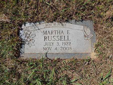 RUSSELL, MARTHA E - Jefferson County, Tennessee | MARTHA E RUSSELL - Tennessee Gravestone Photos