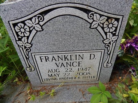 VANCE, FRANKLIN D - Jefferson County, Tennessee | FRANKLIN D VANCE - Tennessee Gravestone Photos
