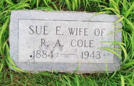 COLE, SUE E. - Johnson County, Tennessee | SUE E. COLE - Tennessee Gravestone Photos