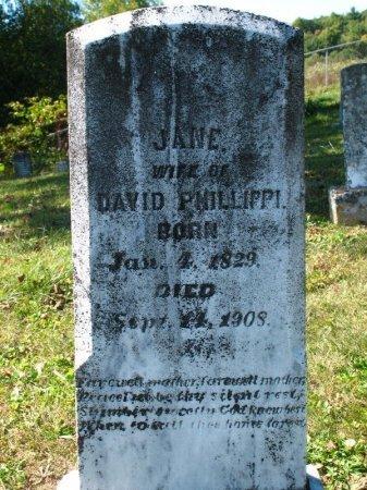 FRY PHILLIPPI, JANE - Johnson County, Tennessee   JANE FRY PHILLIPPI - Tennessee Gravestone Photos