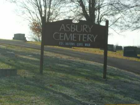 *ASBURY CEMETERY SIGN, . - Knox County, Tennessee | . *ASBURY CEMETERY SIGN - Tennessee Gravestone Photos