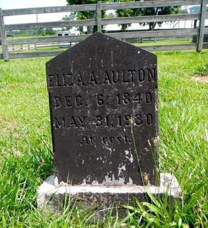 AULTON, ELIZA ANN - Knox County, Tennessee | ELIZA ANN AULTON - Tennessee Gravestone Photos