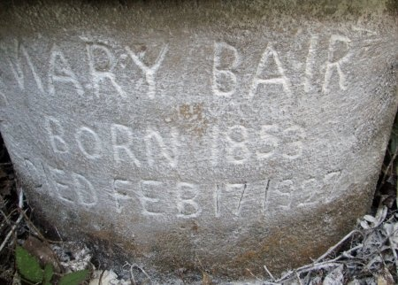 HARRISON BAIR, MARY - Knox County, Tennessee | MARY HARRISON BAIR - Tennessee Gravestone Photos