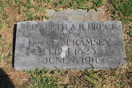RAMSEY BRECK, ELIZABETH A. - Knox County, Tennessee | ELIZABETH A. RAMSEY BRECK - Tennessee Gravestone Photos