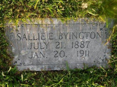BYINGTON, SALLIE E - Knox County, Tennessee | SALLIE E BYINGTON - Tennessee Gravestone Photos