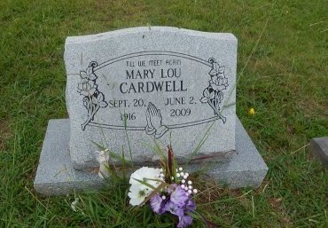 CARDWELL, MARY LOU - Knox County, Tennessee | MARY LOU CARDWELL - Tennessee Gravestone Photos