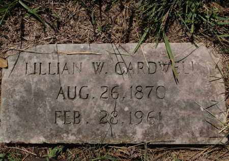 CARDWELL, LILLIAN W - Knox County, Tennessee | LILLIAN W CARDWELL - Tennessee Gravestone Photos