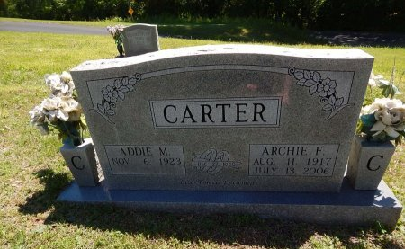 CARTER, ARCHIE F - Knox County, Tennessee | ARCHIE F CARTER - Tennessee Gravestone Photos